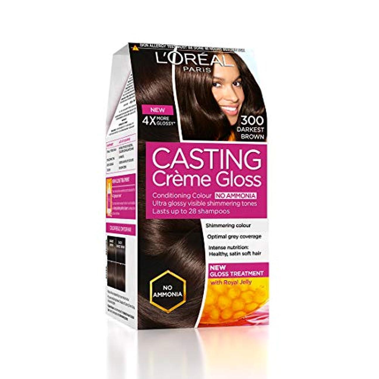 少しまたねシェルターL'Oreal Paris Casting Creme Gloss Hair Color, Darkest Brown 300, 87.5g+72ml