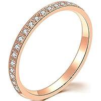 Jude Jewelers Stainless-Steel Cubic-Zirconia