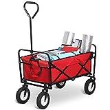 Yaheetech Heavy Duty Folding Garden Wagon Cart Shopping Beach Toy Yard Trolley