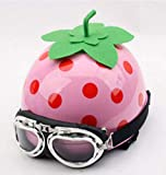 東経120 西瓜/イチゴ フルーツ ハーフヘルメット Watermelon/Storberry 目立つ 面白い設計 大笑い 出川哲朗さん (苺(Pink))