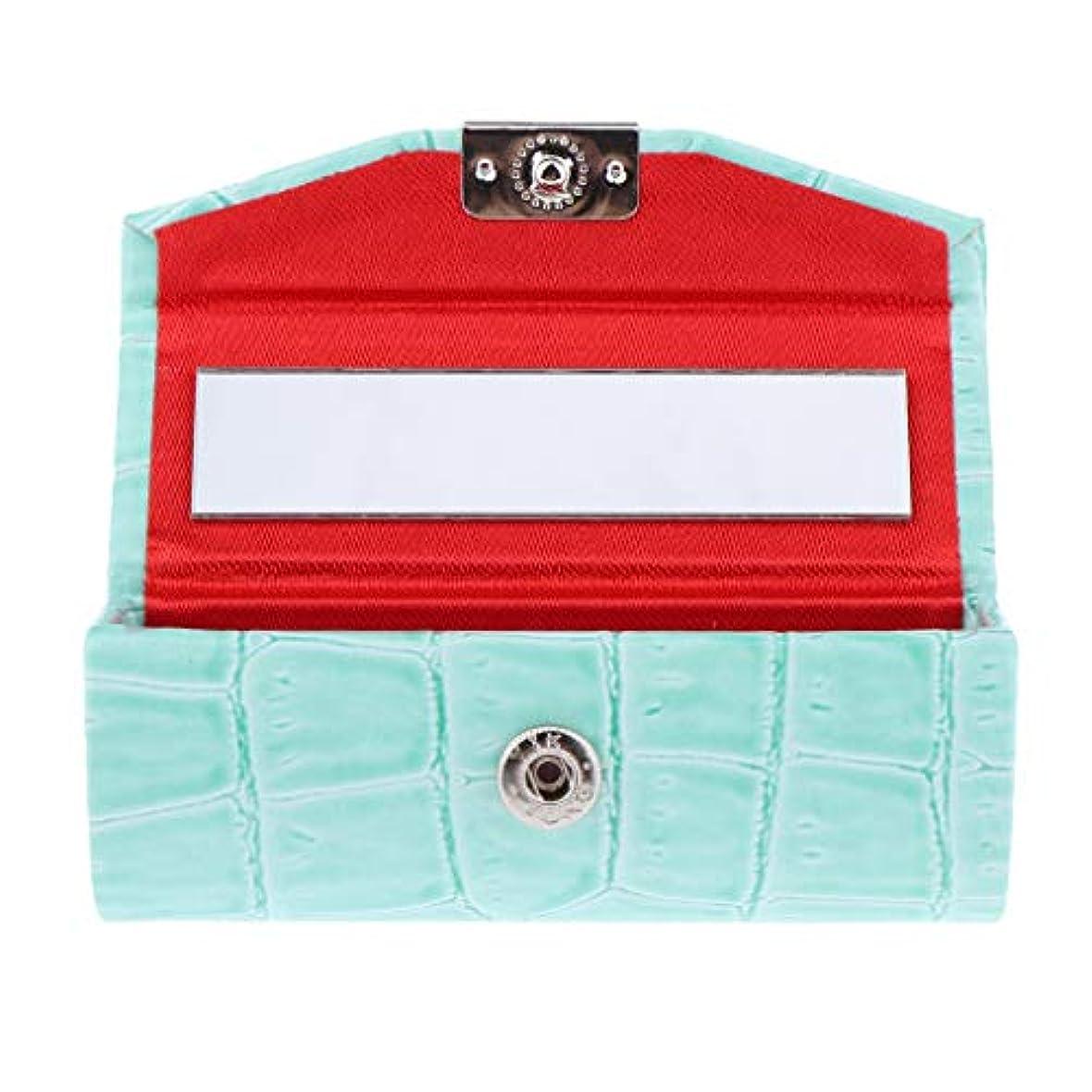 ラベランタン童謡B Baosity 口紅ケース コインケース ミラー付き リップグロス ジュエリー 収納ボックス 多色選べ - ライトブルー