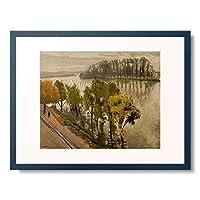 アルベール・マルケ Marquet, Albert 「La Seine a la Frette en automne.」 額装アート作品