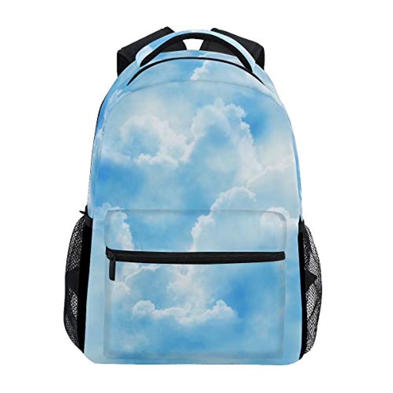 作家貝殻オーラルAnmumi リュックサック 学生 リュック 高校生 レディース バックパック 子供 青空 雲 大容量 通学 通勤リュック メンズ デイパック おしゃれ 人気 軽量 かわいい