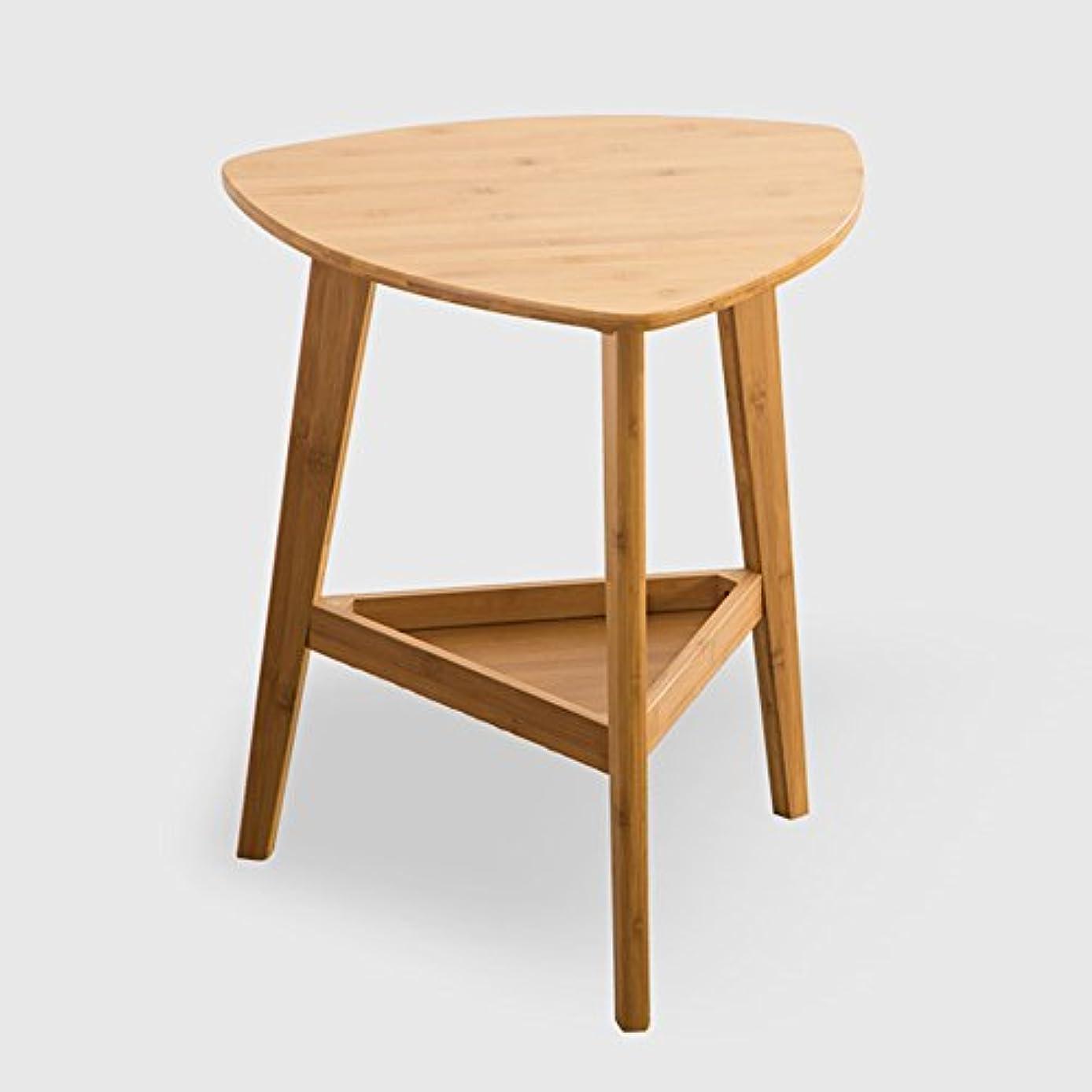 余分なタンザニアオリエンテーションLJHA zhuozi テーブルシンプルなコーナーテーブル移動ソファローテーブルバンブーミニテーブル46 * 57 * 50cm