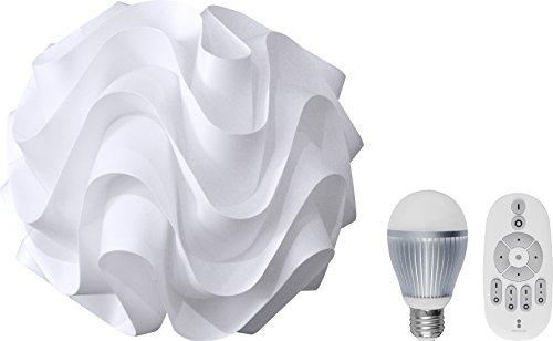 ottostyle.jp 【北欧デザイン照明】 ペンダントランプ WaVe(ウェーブ) 【直径33cm】&(調光・調色)LED電球&専用リモコン三点セット