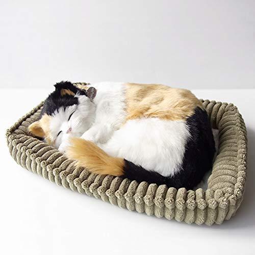 パーフェクトペット スヤスヤ息をしてるようにお腹が動くぬいぐるみ 三毛猫 小