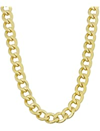 Mens 14k Yellow Gold Filled 6mm High Polish Miami Cuban Curb Link Chain Necklace