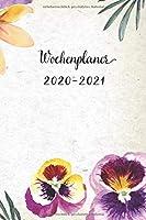 Wochenplaner 2020-2021: Nette Violett Blumen Design Wochen- und Monatsplaner | Terminkalender | ein Liebevolles Kleines Geschenk fuer Frauen Kollegen