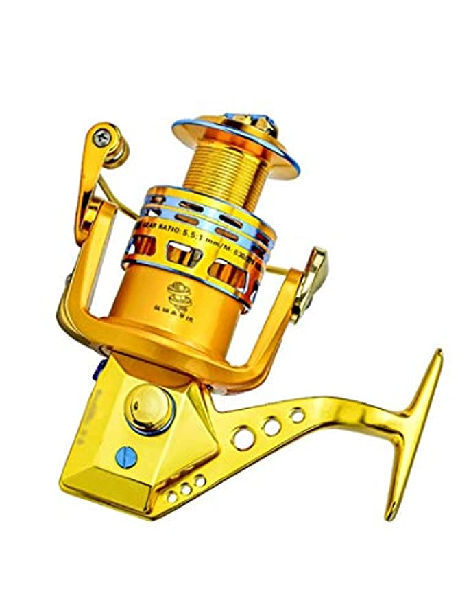 取り組む手荷物電気の超軽量釣り用リール、18個のステンレススチールベアリング、5.5:1のギア比、交換可能な左右ロッカーアーム、淡水海水湖用の高品質スピニングリール (Color : 4000)