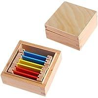 ETbotu 木製 モンテッソーリ おもちゃ 知覚 学習 カラー タブレット ボックス カラー カード 木製 子供 幼稚園 カラー トレーニング おもちゃ ギフト LXMjj2-0811dratoy-4517CEFA1B
