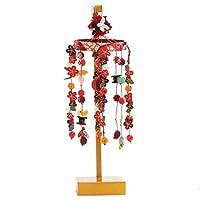 吊るし飾り[3月雛人形][ミニ]スタンド付き卓上タイプ[お誕生月のさげ飾り]雛祭り紅白梅[高さ28cm][インテリア]