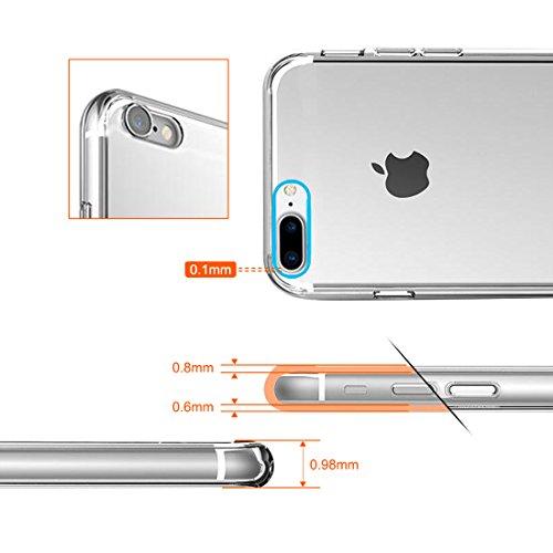 【Binbo】iPhone7 ケース 黄ばみ防止 滑りにくい 薄型 軽量 落下防止 指紋防止 脱着簡単 高い透明性 衝撃吸収 擦り傷防止 落下防止 高品質TPU
