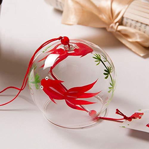 風鈴 ガラス 江戸風鈴 ウィンドチャイム 夏の風物詩 赤い金魚 可愛い 装飾
