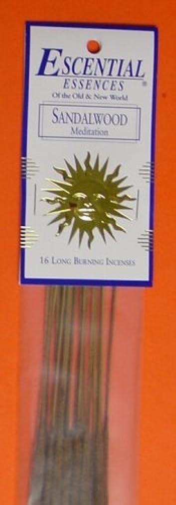 二次幼児アクティブSandalwood - Escential Essences Incense - 16 Sticks [並行輸入品]