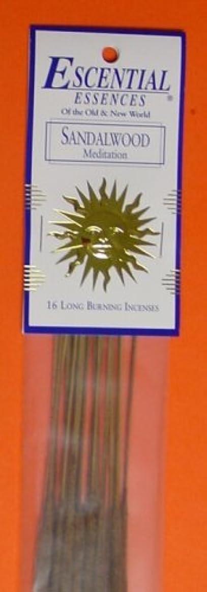 コンパニオンシリンダーレーダーSandalwood - Escential Essences Incense - 16 Sticks [並行輸入品]
