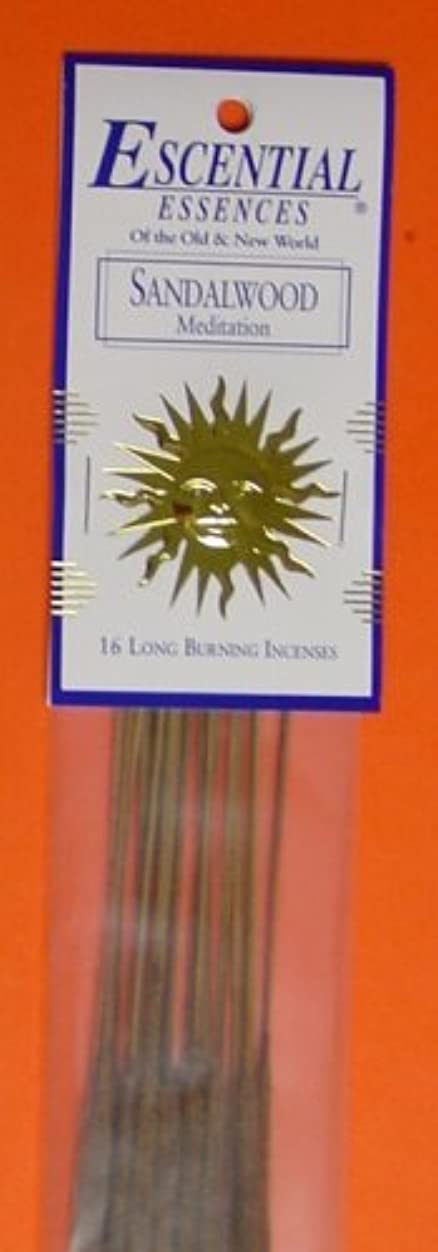 協同欠伸偽Sandalwood - Escential Essences Incense - 16 Sticks [並行輸入品]
