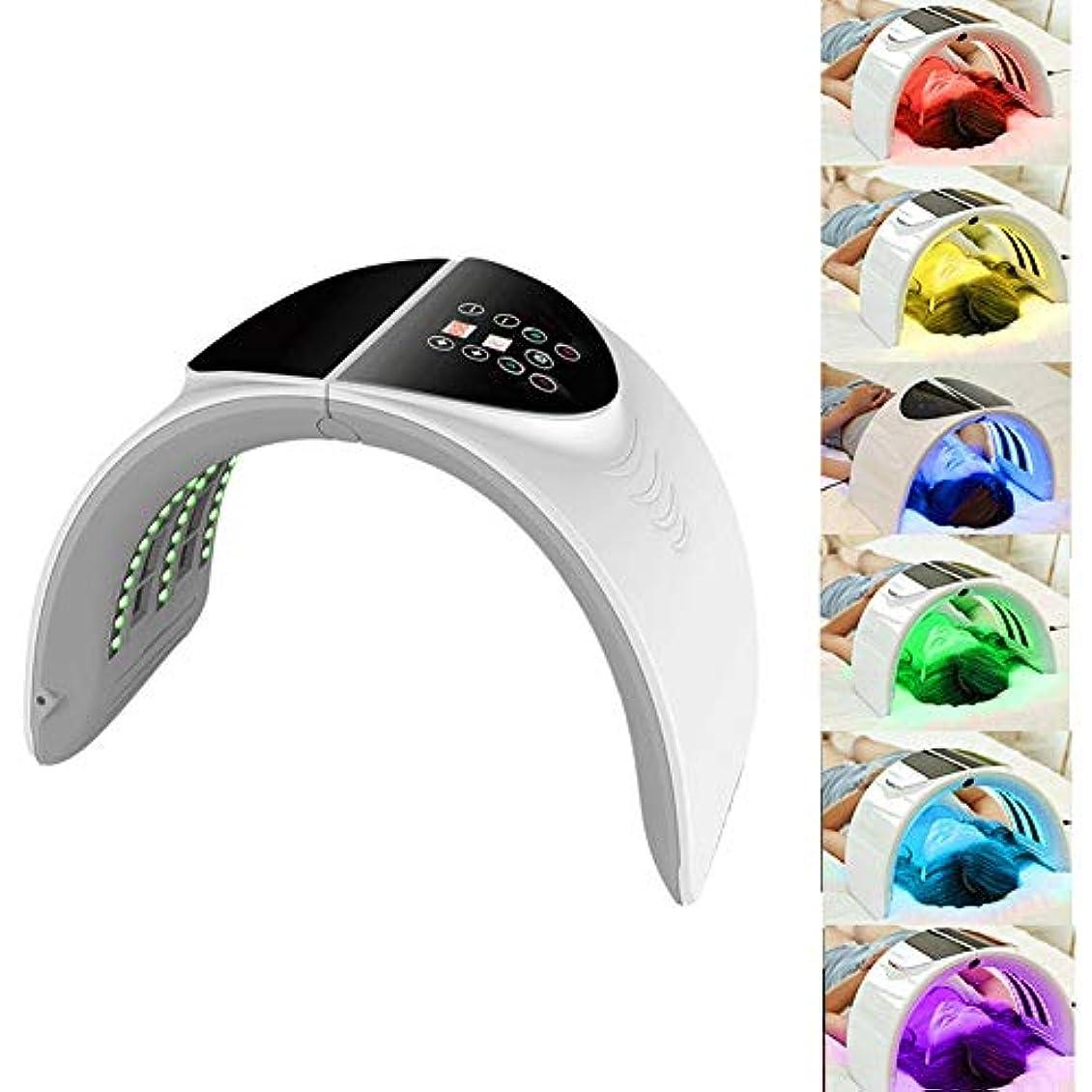 志す飼い慣らすスリムLEDフェイス7カラーライトセラピーは、コラーゲンマスクマスク - 、美容機、アンチエイジングを締め付け、瘢痕化、美白美容LEDフェイスライトマシンマスク