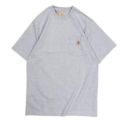 カーハート WORKER POCKET SS T-SHIRTS Tシャツ 半袖 K87 メンズ グレー L (並行輸入品)