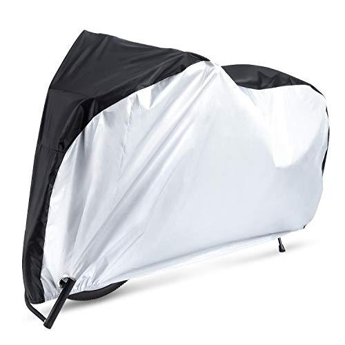 自転車カバー サイクルカバー 210Dオックス製生地 厚手 二重縫製 風飛び防止 破れにくい 防水 防風 UVカット 29インチまで対応 収納袋付き