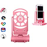 Esimen Phone Swing Steps Counter for Pokemon Go Cellphone Pedometer Accessories Quick Steps Earning Device with USB Cable, Phone Holder Mounts & Stands(Super Mute) -Support 2 Phones