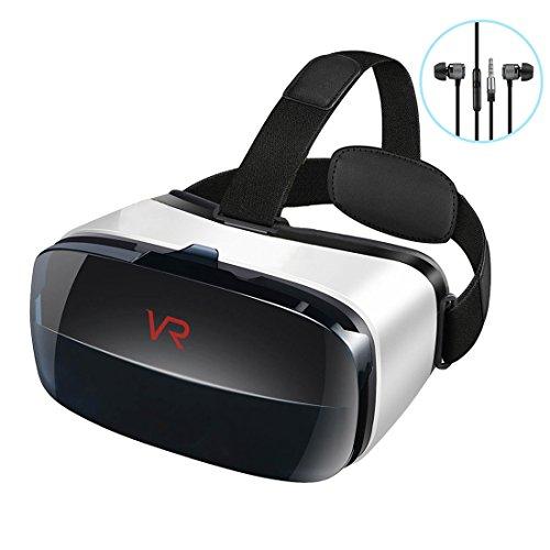 Brisie 3D VR ゴーグル VR ヘッドセット イヤホン付き 音量調整可能 近視対応 レンズ調整可能 4.0~6.3インチスマホ対応 vr box