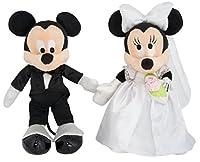ディズニーパーク ミッキー&ミニー ウェディングぬいぐるみセット 結婚式のお祝い・ウェルカムドールにも