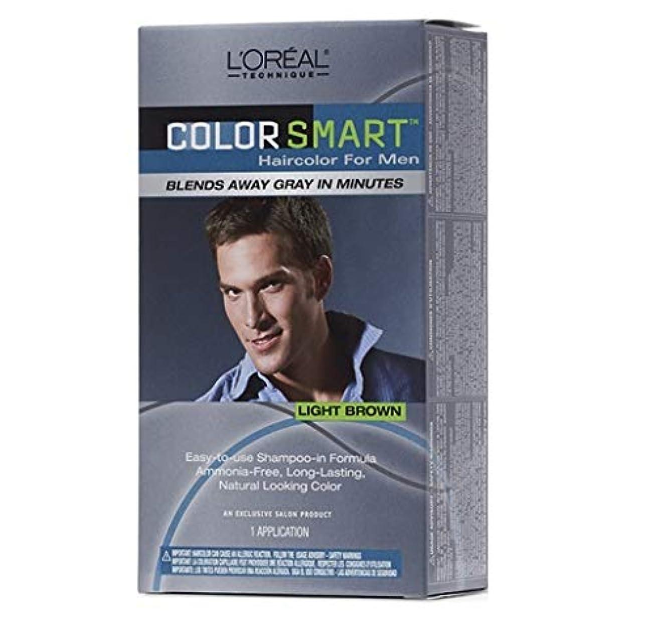 再生トラクタースクワイアL'Oreal Technique - Color Smart for Men - Light Brown KIT