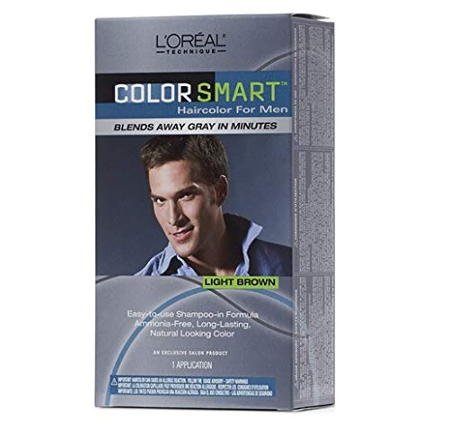 インタビュー抵当料理L'Oreal Technique - Color Smart for Men - Light Brown KIT