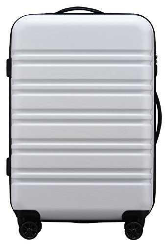 (ラッキーパンダ) luckypanda 【1年間修理保証】スーツケース 機内持込 超軽量 tsaロック搭載 sサイズ ファスナータイプ TY8098 キャリーケース キャリーバッグ 機内持ち込み キャリーバック 小型 (S, ホワイト)