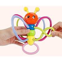 Yiping 子供用 知育玩具 カラフル 乳児 蜂 ガラガラ おもちゃ 歯固め バイト リング 握りボール リング 知的開発 ギフト