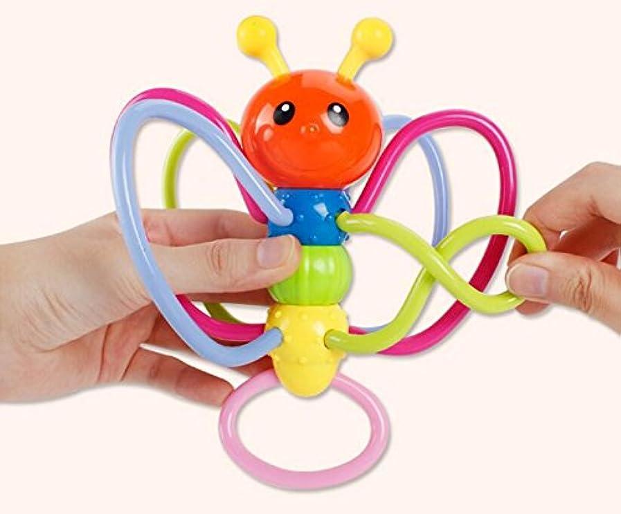困惑添加剤放出Yiping 子供用 知育玩具 カラフル 乳児 蜂 ガラガラ おもちゃ 歯固め バイト リング 握りボール リング 知的開発 ギフト