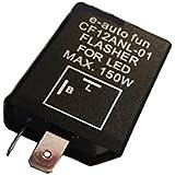 e-auto-fun バイクライト ICウインカーリレー LED対応 省電力  2ピン ハイフラ防止 バイク 旧車に カスタムパーツ オートバイ 二輪 CF12