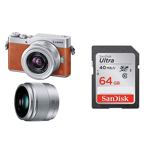 パナソニック ミラーレス一眼カメラ ルミックス GF9 ダブルズームレンズキット 標準ズームレンズ/単焦点レンズ付属 オレンジ DC-GF9W-D + SanDisk エコパッケージ サンディスク ウルトラ SDXCカード 64GB Class10 UHS-I 読取り最大40MB/秒 SDSDUNH-064G-GHENN 10年保証