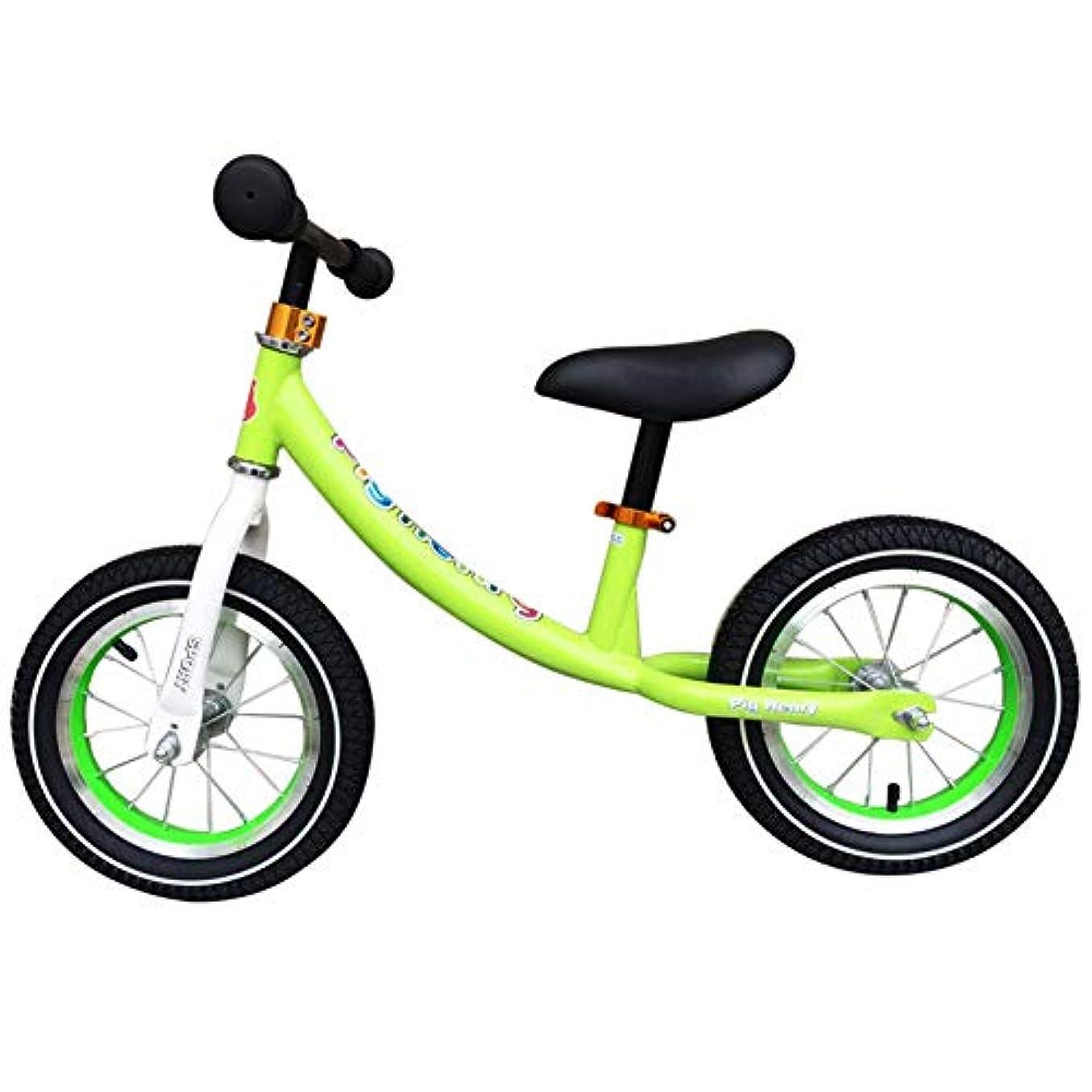 辛なディスクが欲しい子供バランス自転車子供ランニング自転車マグネシウム合金いいえペダルウォーキング自転車 2~5 歳用調節可能なハンドルバーとシート