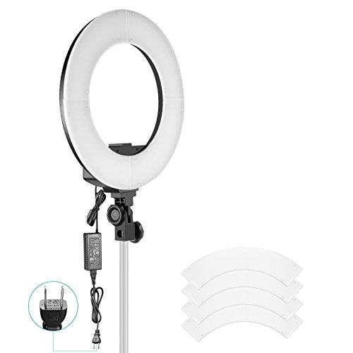 Neewer カメラ用36Wリングライト 14インチ 可調光 192個の高輝度SMD LED両色チップタイプ 3200K-5600K CRI 95+ LCDディスプレイスクリーン 磁気吸着カラーフィルターセット ポートレート、化粧、Youtubeに対応