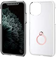 Elecom iPhone 8 Case Cover Hard Polycarbonate Material with Ring Compatible with iPhone 7 Black PM-A17MPVRBK,