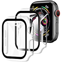 【2枚セット】YOFITAR Apple Watch 用 ケース series6/SE/5/4 44mm アップルウォッチ保護カバー ガラスフィルム 一体型 PC素材 全面保護 超薄型 装着簡単 耐衝撃 高透過率 指紋防止 傷防止 クリア