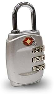 ottostyle.jp TSAロック 南京錠 (3桁、ダイヤル式ロック、カギ、鍵、海外旅行用)