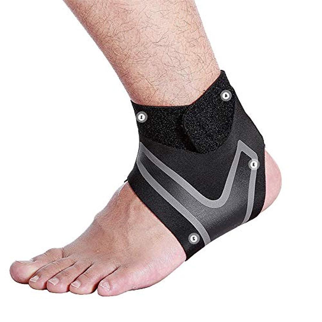 一過性振るうエコー男性と女性用のアンクルブレース、調節可能な圧縮足首サポートラップ、足底筋膜炎用の完璧な足首スリーブ、アキレス腱、小さな捻rain、すべてに合うサイズ