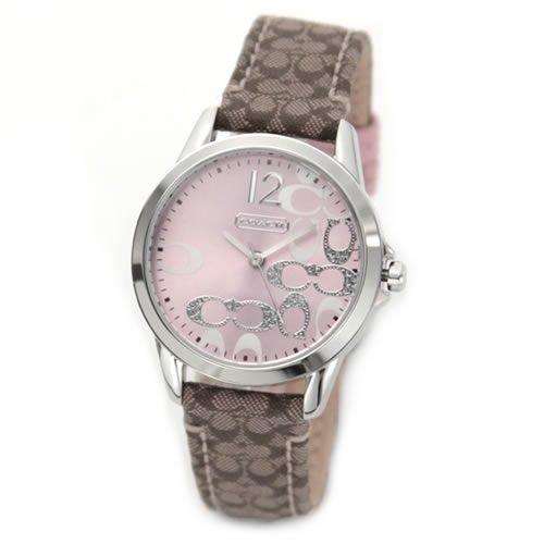 [コーチ] COACH 腕時計 ラインストーン シグネチャーダイヤル レディースウオッチ 14501621 [並行輸入品]