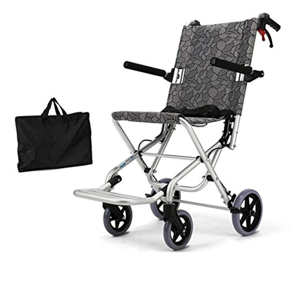 ジェットまぶしさピュー車椅子用アルミニウム合金折りたたみ式、高齢者障害者用ポータブルプッシュ車椅子