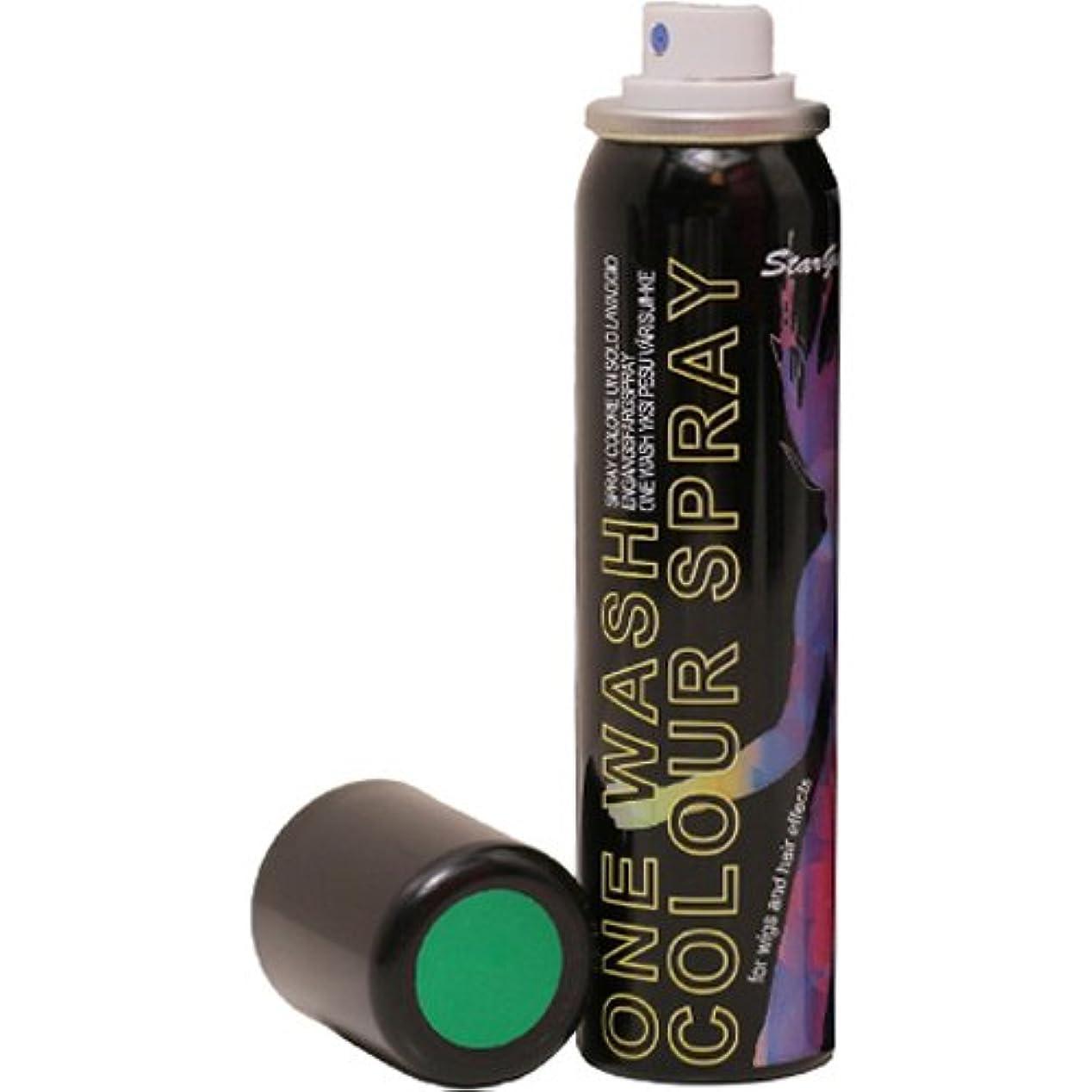 面月比類なきアレス スターゲイザー ワンウォッシュカラースプレー UVグリーン 75ml