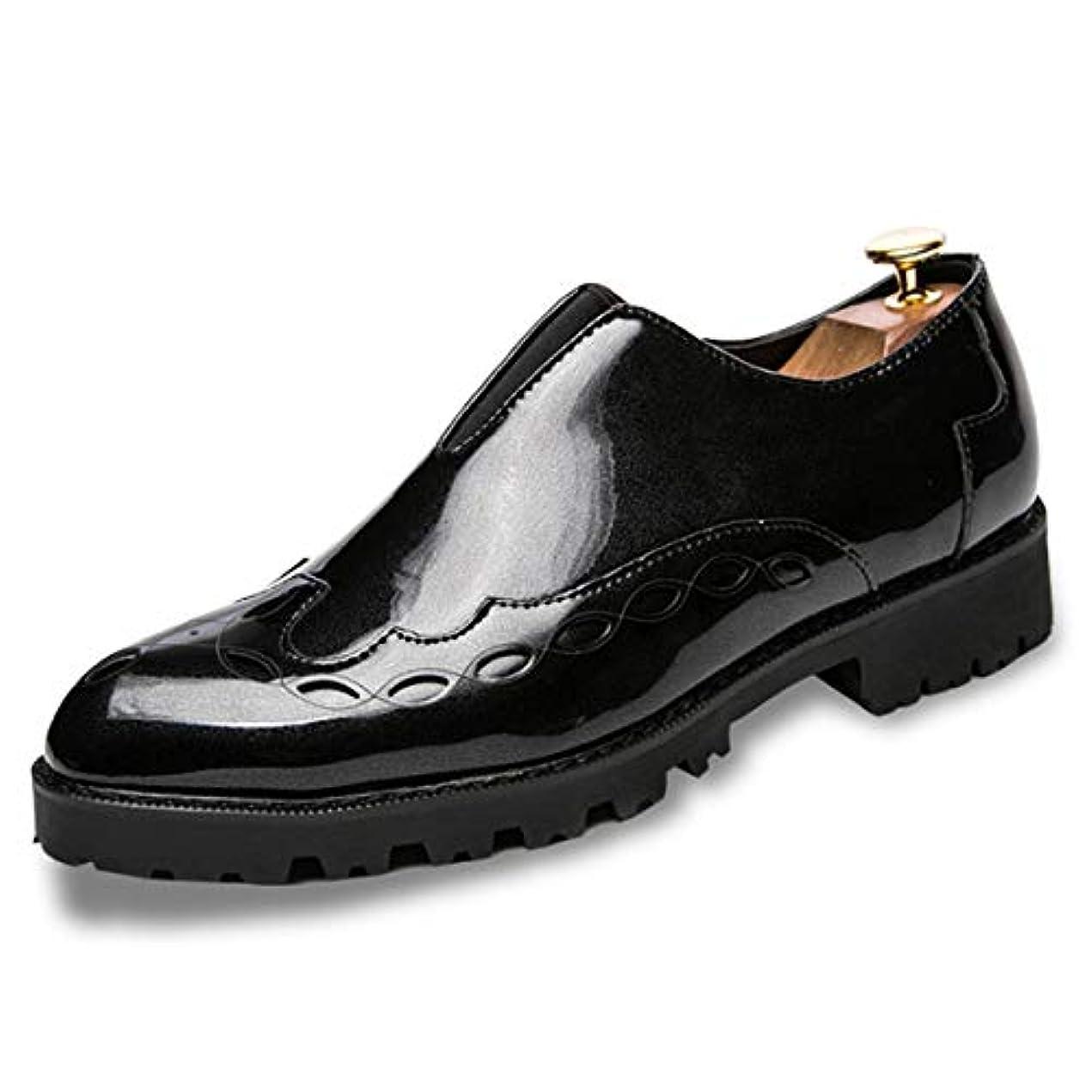 小さいアラビア語輸血[Poly] メンズシューズ レザーシューズ ドレスシューズ ビジネスシューズ カジュアル靴 紳士靴 ハイヒール エナメル ストレートチップ G-R22519