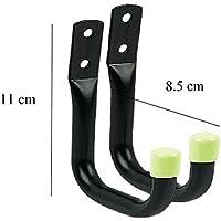 2 × 8cm ストレージフック壁マウント、整然としたツールはしごガレージガーデンは、自転車を流す