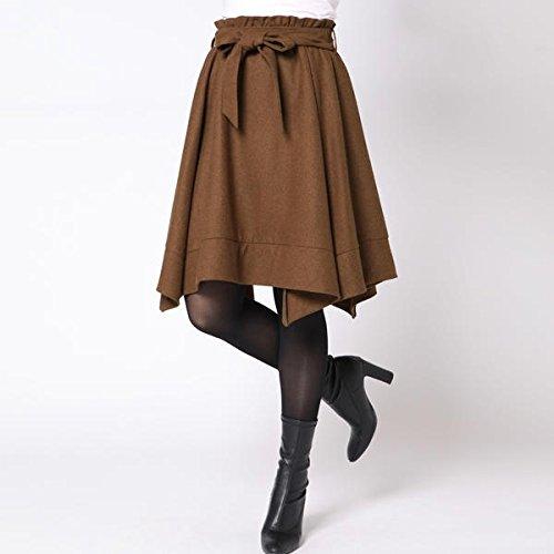 クイーンズコート(QUEENS COURT) イレギュラーヘムウエストリボンスカート