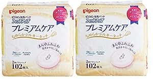 【Amazon.co.jp限定】 ピジョン 母乳パッド フィットアップ プレミアムケア 102枚入×2個 なめらかシルキータッチで乳首をやさしく包み込む 0か月~