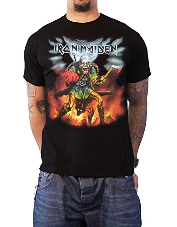 人形傷跡木Iron Maiden T Shirt Book of Souls Tour Nordic Event 2016 公式 メンズ 新しい