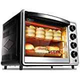 32L Mini Oven Grill Rotisserie Function 4 Knobs with Self-Explanatory Icon View Hinged Door with Safety Glass