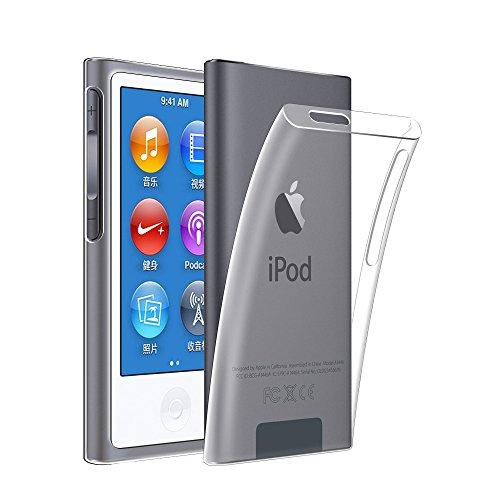 Qosea ipod nano 7 ケース Apple ipod nano 7/ipod nano 8 ケースカバー 高品質TPU シリコン ケース 落下防止 防指紋 超薄型 軽量TPU素材 ケース ソフト クリア (ipod nano 7/8, 透明)
