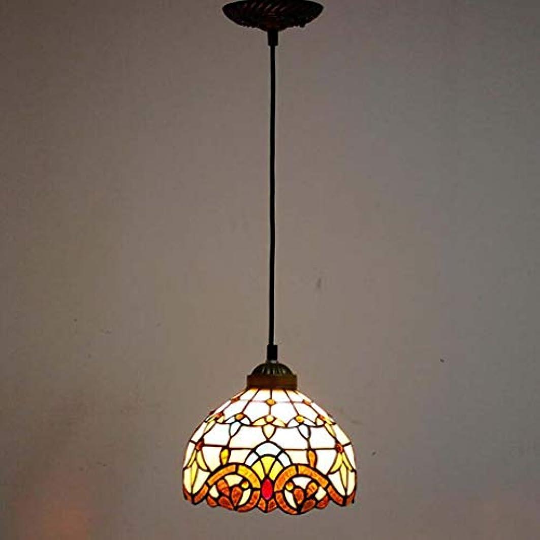 ストレージクレジットエピソードティファニースタイル1ライトミニペンダント照明、ヴィンテージシーリングライト吊り下げランプステンドグラスシェード(5.5